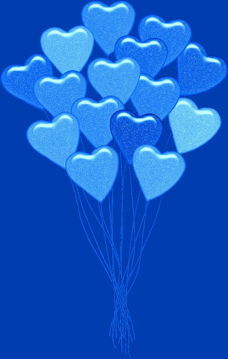 בלונים בצורת לב