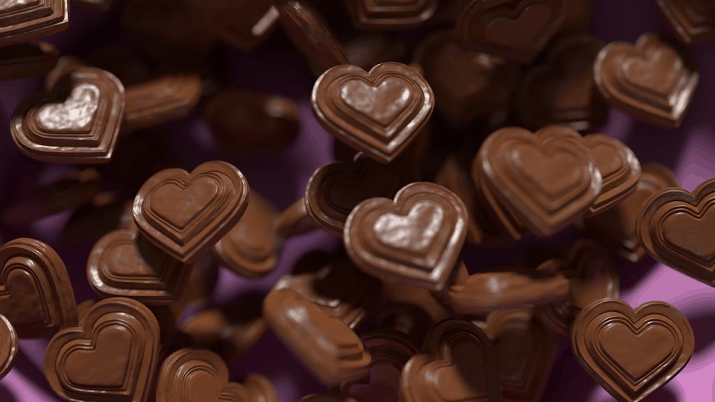 שוקולדים בצורת לב